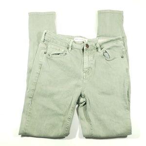 Bullhead gray green high rise skinny Jean's size 7